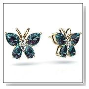 Alexandrite Butterfly Earrings