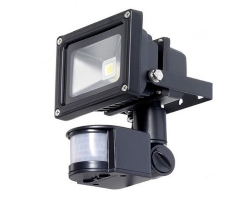 eZone 2013 10W PIR Sensor Motion-Activated wall/path/patio/porch LED Flood Light Security Light with 180° Motion Sensor