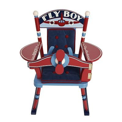 Amazing Levels Of Discovery Fly Boy Airplane Rocking Chair Baby Gift Idea front-173394