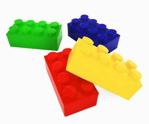 Lego Color Block - Peel and Stick Wall Decal by Wallmonkeys
