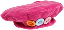 Flap Happy Winter Beret Velour With Multi Candy Buttons, Azalea Pink, Medium