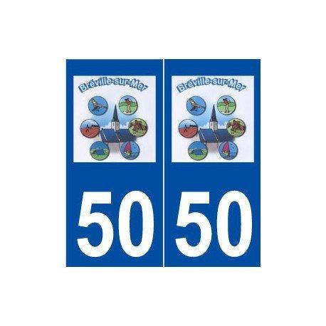 50-breville-sur-mer-logo-autoadhesivo-placa-adhesivos-ville-derechos