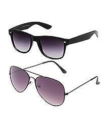 CraftCor Combo of Aviator and Wayfarer Sunglasses