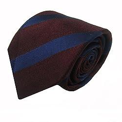 Rossini Men's Tie (UFAM02_Brown_Free Size)