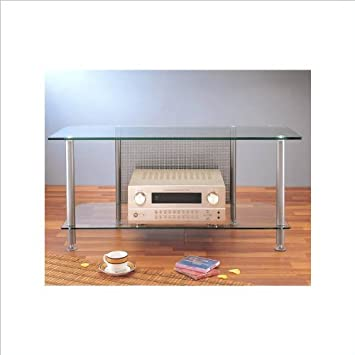 """AGR Series 44"""" TV Stand Poles/Caps: Gray Silver"""