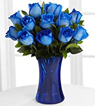 FTD Flowers Blue Fiesta Roses-12 Stem…