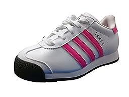 Adidas Samoa C FTW White/Soft Pink-Black (2.5 M US Little Kid)