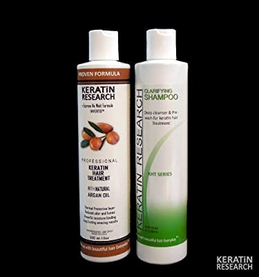 Professional Keratin Treatment with Clarifying Shampoo Voted Best Made in USA By Keratin Research