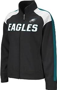 Philadelphia Eagles NFL Womens Team Fierce Bonded Track Jacket, Black by Reebok
