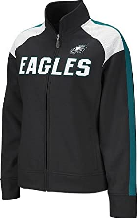 Philadelphia Eagles NFL Ladies Team Fierce Bonded Track Jacket, Black by Reebok