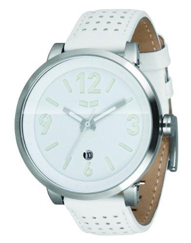 Vestal Men'S Dpl003 Doppler Slim Silver With White Leather Watch