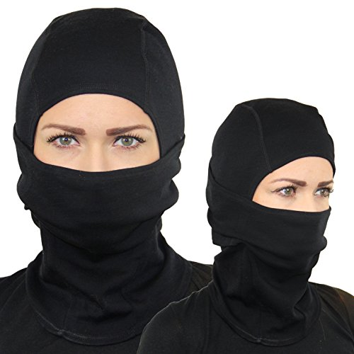 TenTenTI 100% Merino Wool Balaclava - Soft Comfortable Premium Breathable Mask