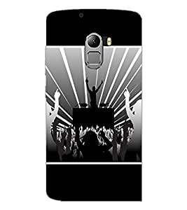 PrintDhaba DJ D-1414 Back Case Cover for LENOVO K4 NOTE A7010 (Multi-Coloured)