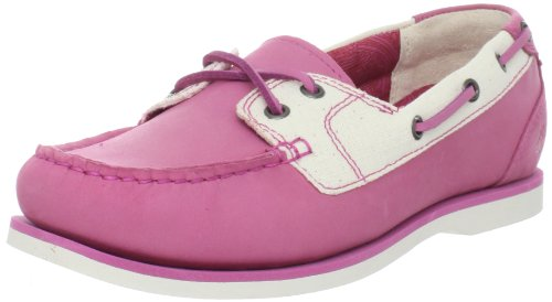 Timberland Women's 2-Eye Classic Boat Shoe, Pink/Rose, 8.5 M US