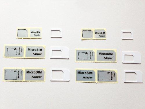 白【純正iPhone5】ドコモ〓foma対応 nano SIM micro sim変換アダプタ 3点セット For iPhone 5 4S 4 nano sim→SIMカード or Nano sim→micro sim +MicroSIM→SIMカードアダプター(白)3点セット×2