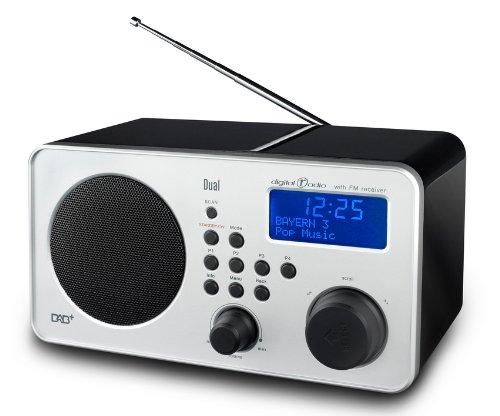 DGC GmbH Dual DAB 9 [Digitalradio (UKW-/ DAB+ Tuner, Suchlauf, Senderspeicherung, Datums-/ Uhrfunktion, LCD-Display, Kopfhöreranschluss, Line-In) Schwarz