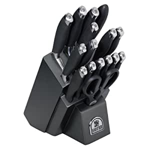 Sabatier 17-Piece Soft Grip Forged Stainless Steel Knife Block Set