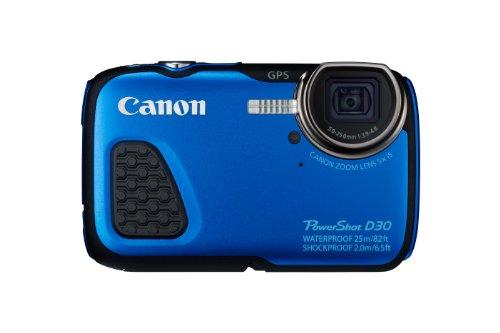 Canon PowerShot D30 Fotocamera Compatta Digitale Subacquea, 12 Megapixel, Blu