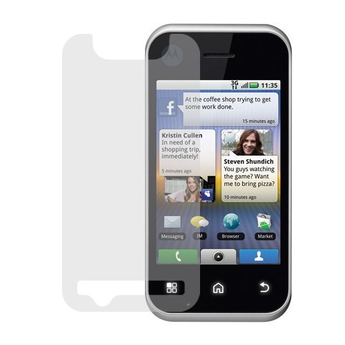 GTMax Durable Clear LCD Screen Protector for ATT Motorola Backflip GSM Cell Phone