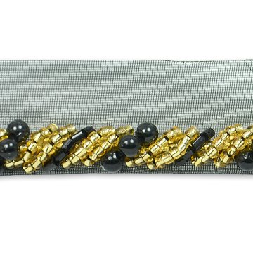 Spiral Beaded Cord Trim with Lip