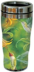 Tree-Free Greetings 77019 Ruby Wings Collectible Art Sip N Go Travel Tumbler, 16-Ounce, Stainless Steel, Multicolored