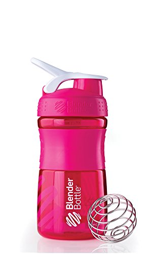 BlenderBottle SportMixer Tritan Grip Shaker Bottle, Pink/White, 20-Ounce (American Made Coffee To Go Mug compare prices)
