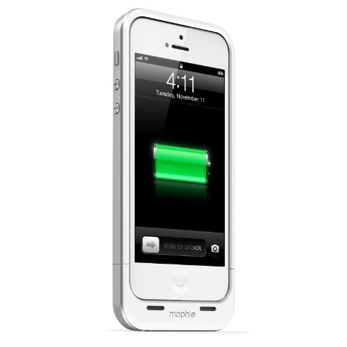 【日本正規代理店品】mophie+juice+pack+air+for+iPhone+5+ホワイト+MOP-PH-000031
