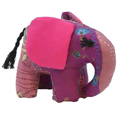 Pink Small Silk Elephant - 1