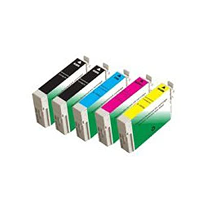 Amsahr T1261 Remanufactured Replacement Epson Ink Cartridges for Select Printers/Faxes with 2 Black and 3 Color Ink Cartridges