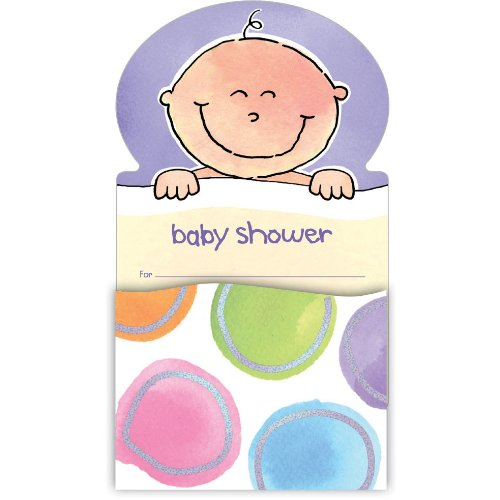 'Baby Me' Pop-up Baby Shower Invitations (8-pack)