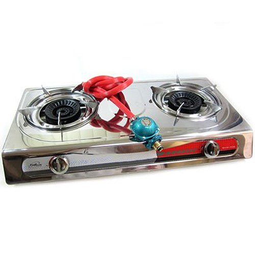 Xtremepowerus Portable Propane Gas Stove Double Burner T Gate Camping