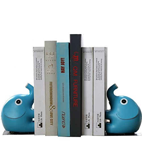 Eastyle Nonskid Bookend Cute Elephant Bookends for Home Office Library Desk Organizer