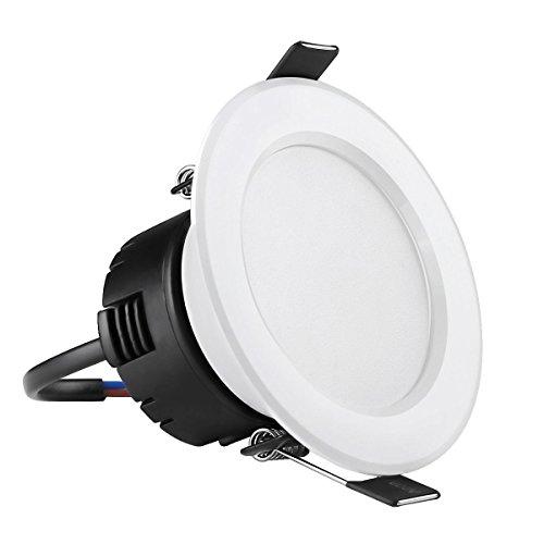 LE Plafoniera da incasso a LED da 4W, Pari alle Alogene da 30W, Luce Bianca Calda