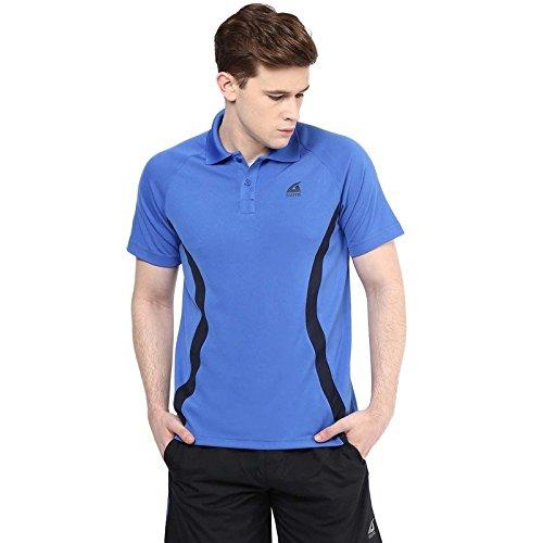 Aurro-Sports-Royal-BlueNavy-Victory-Polo-Flat-Knit-Polo-T-Shirt-L