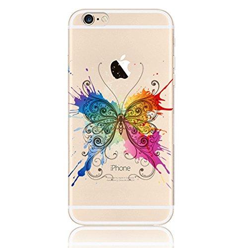Vandot Motif Impression Hull Transparent Etui élégant Apple iPhone 6 6s TPU Gel Coque Silicone Shell Housse 3D Case Cover