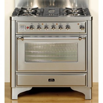 Ilve Majestic 36 In. Stainless Steel Dual Fuel Range - UM90FMPI (36 Inch Duel Fuel Range compare prices)