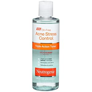 Neutrogena Oil Free Acne Stress Control Triple Action Toner, 8 Ounce