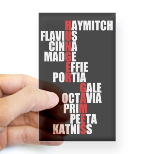 Hunger Games Names Sticker Rectangle by CafePress - Clear