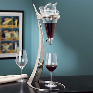Gemini Wine Decanter - Brushed Nickel by Rojaus