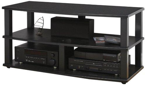 Plateau Xt-V3 44 Bb Wood Veneer And Metal Tv Stand, 44-Inch, Black Oak Finish