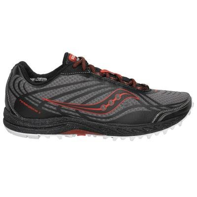 Saucony Men's Progrid Peregrine 2 Trail Running Shoe,Grey/Black/Red,10 M US