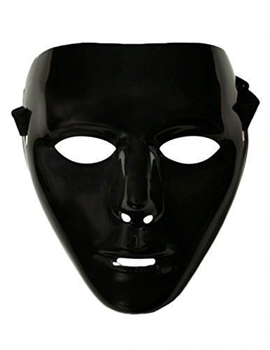 [iHeartRaves Jabbawockeez Adult Costume Rave Mask 2.0 (Black)] (Jabbawockeez Costumes Halloween)