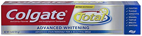 Colgate Total Advanced Whitening Toothpaste, 7.6Oz (Pack Of 2) front-610430