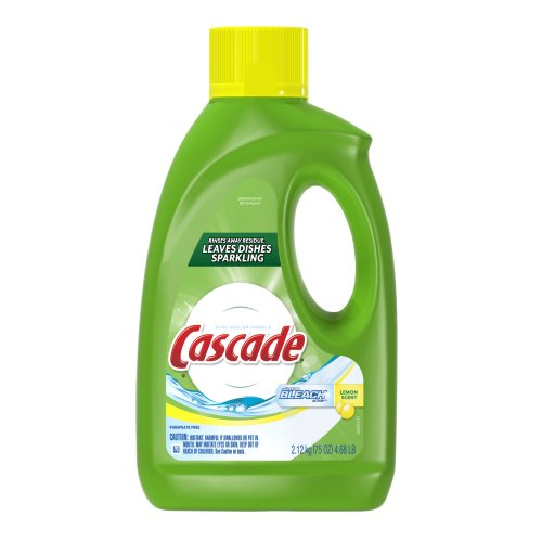 Cascade Gel Dishwasher Detergent with Extra Bleach Action, L