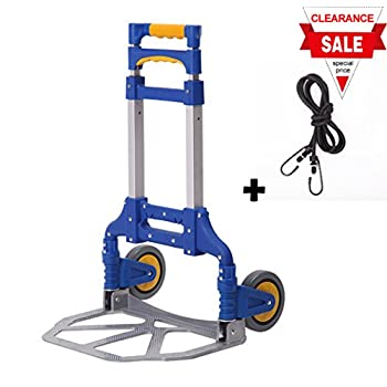 Portable Folding Aluminum Hand Truck Luggage Carts Dolly heavy duty