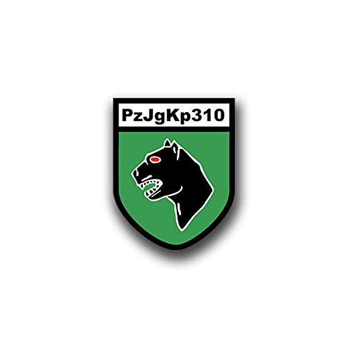 Aufkleber / Sticker - PzJgKp310 Sticker Aufkleber Panzerjäger Kompanie Wappen Abzeichen Emblem Bundeswehr passend für Opel Astra VW Golf GTI 3er BMW Mercedes Benz 6x7cm #A811