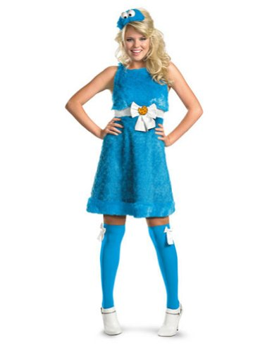 Cookie Monster Sassy 8-10 Halloween Costume - Adult 8-10