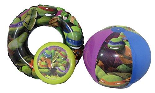 [Teenage Mutant Ninja Turtles TMNT Swim Ring, Beach Ball, and Flying Disc Bundle Su-24] (Teenage Mutant Ninja Turtles Dogpound Costume)