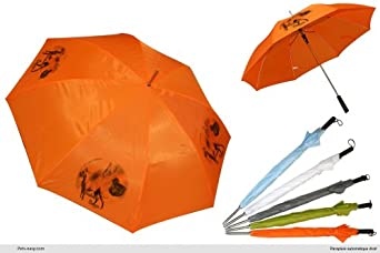 Parapluie Orange Golf chien Deutsche-Dogge-Fauve