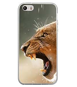 Tiger 2D Hard Polycarbonate Designer Back Case Cover for Apple iPhone 4